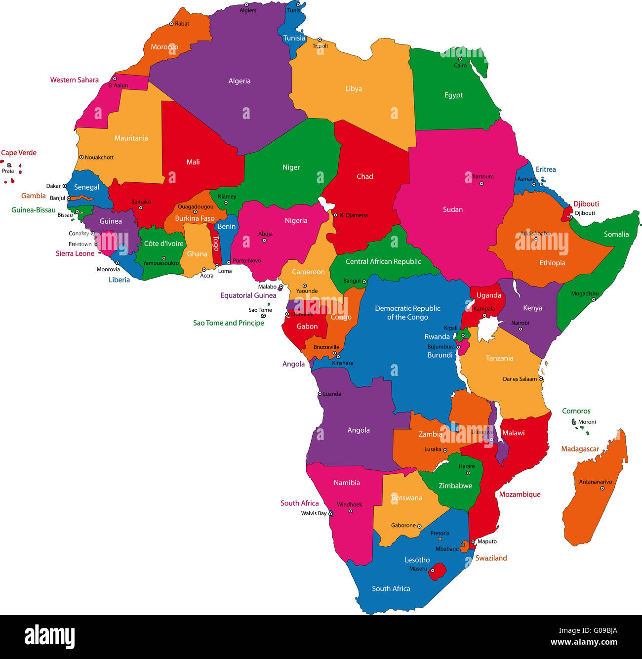 Africa map - Stock Image