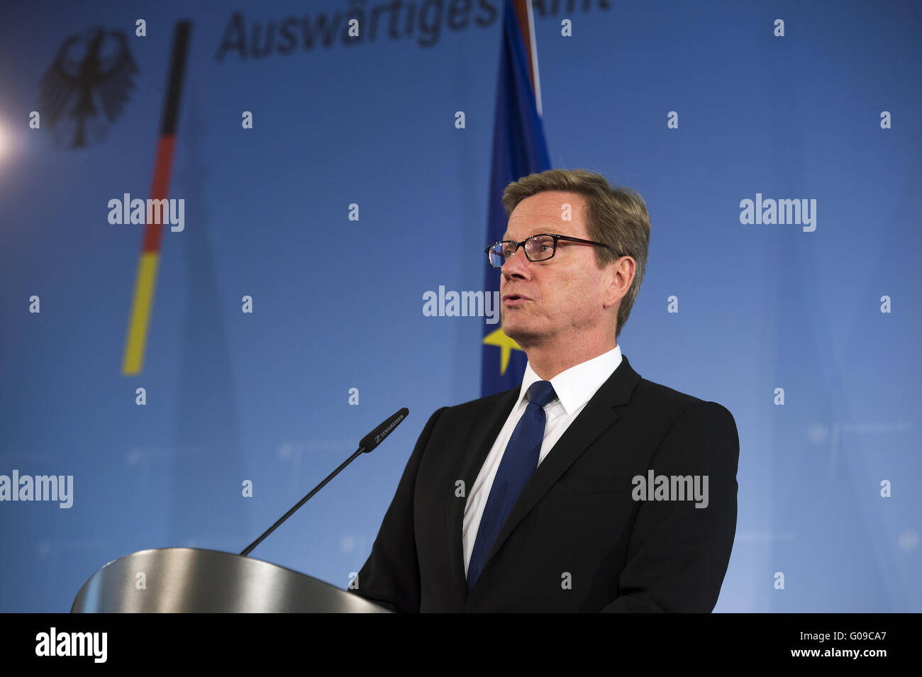 Westerwelle talks about the agent murdered in Yemen. - Stock Image