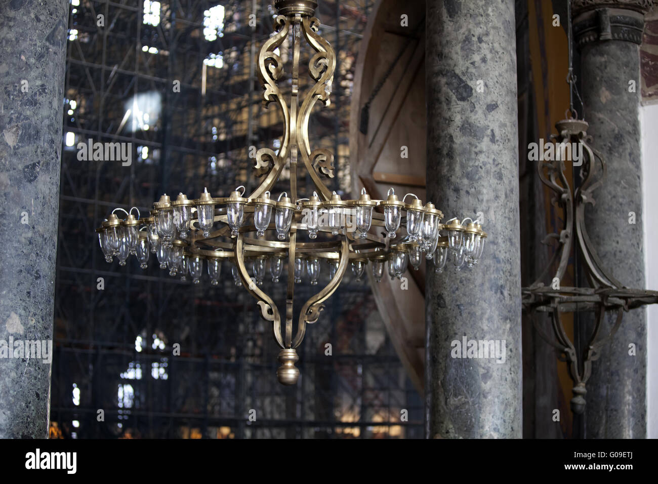 A large chandelier Stock Photo