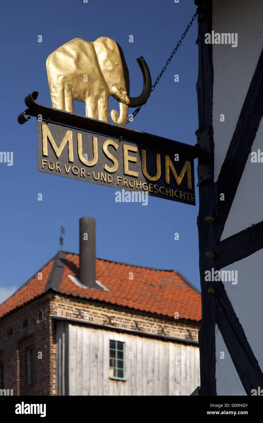 Museum of Prehistory and Early History in Balve. - Stock Image