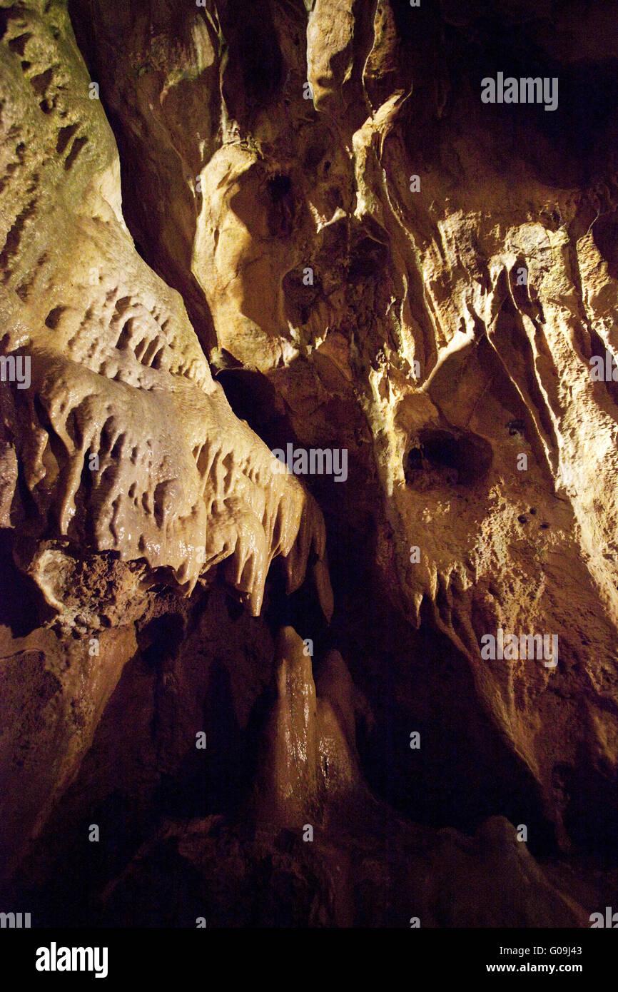 Interior view of the Bilsteinhöhle in Warstein. - Stock Image