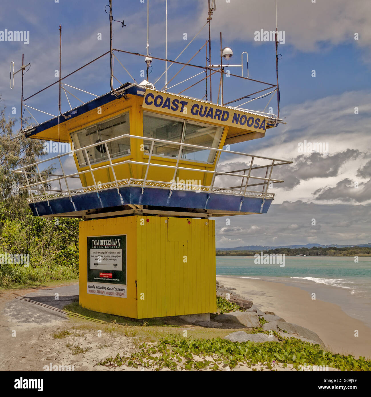Coast Guard Station Noosa Queensland Australia - Stock Image
