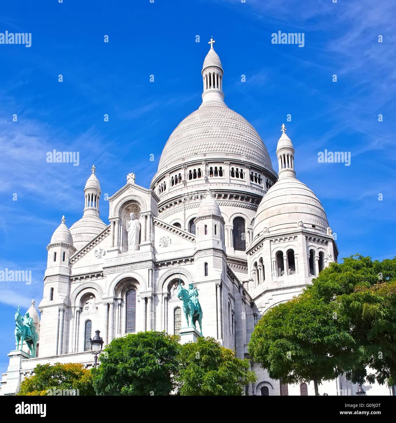 Sacre Coeur in Paris - Stock Image