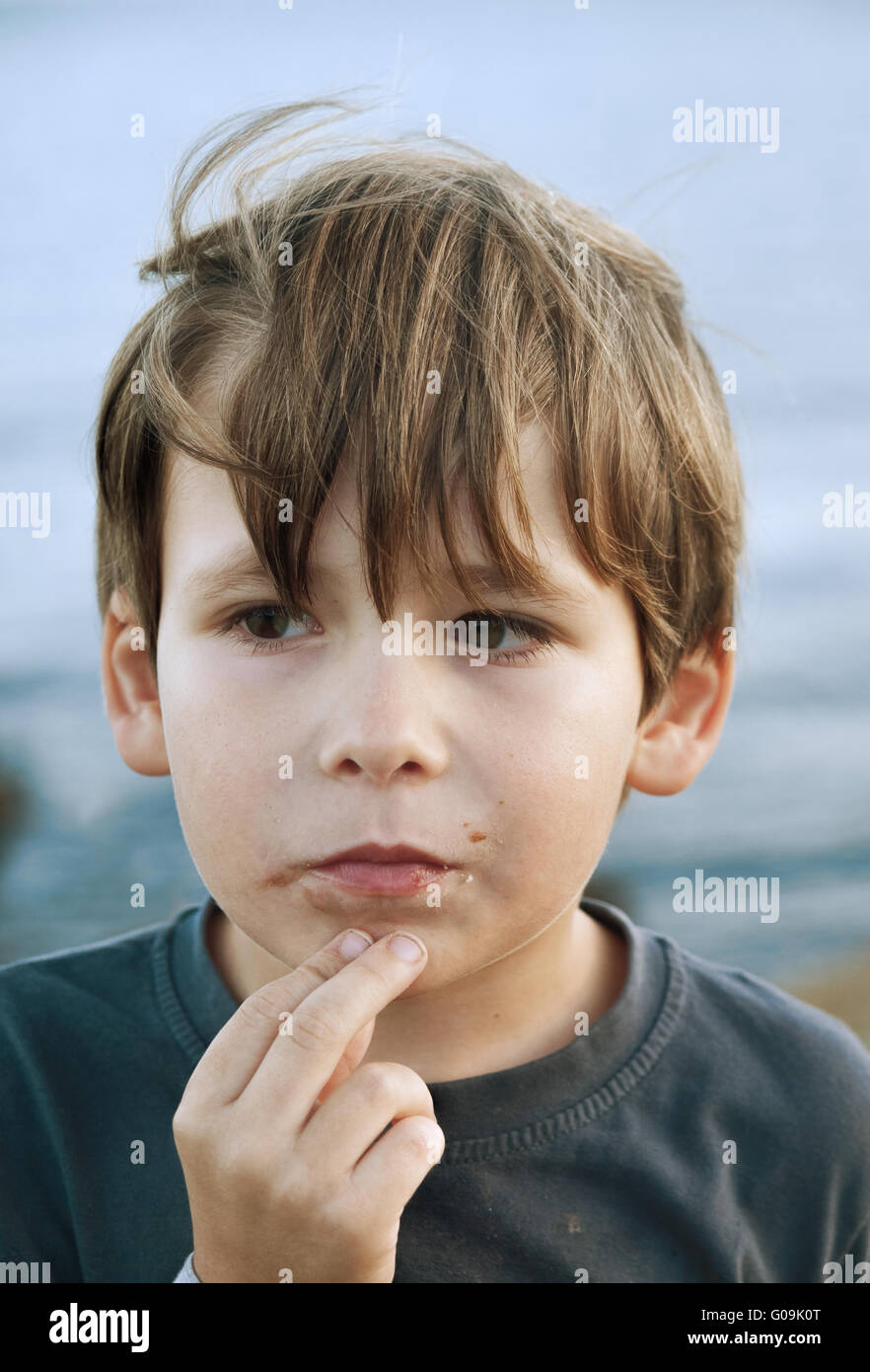 Child outdoor - Stock Image