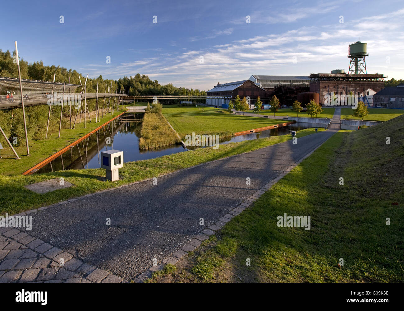 Westpark with Bochum Hall of the Century, Germany. - Stock Image