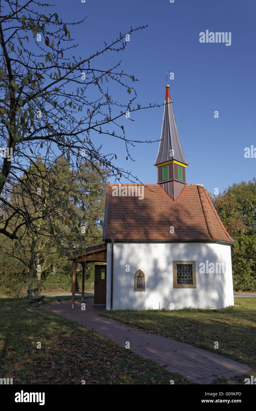 The chapel to the seven pains of Marien, Germany - Stock Image
