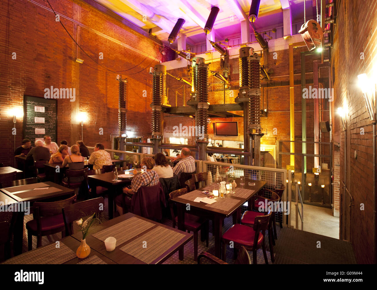 restaurant north duisburg landscape park germany stock photo 103475572 alamy. Black Bedroom Furniture Sets. Home Design Ideas