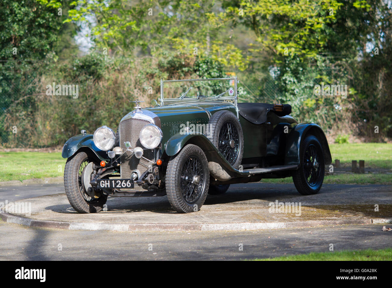1930 Bentley at Bicester Heritage Centre. Oxfordshire, England - Stock Image