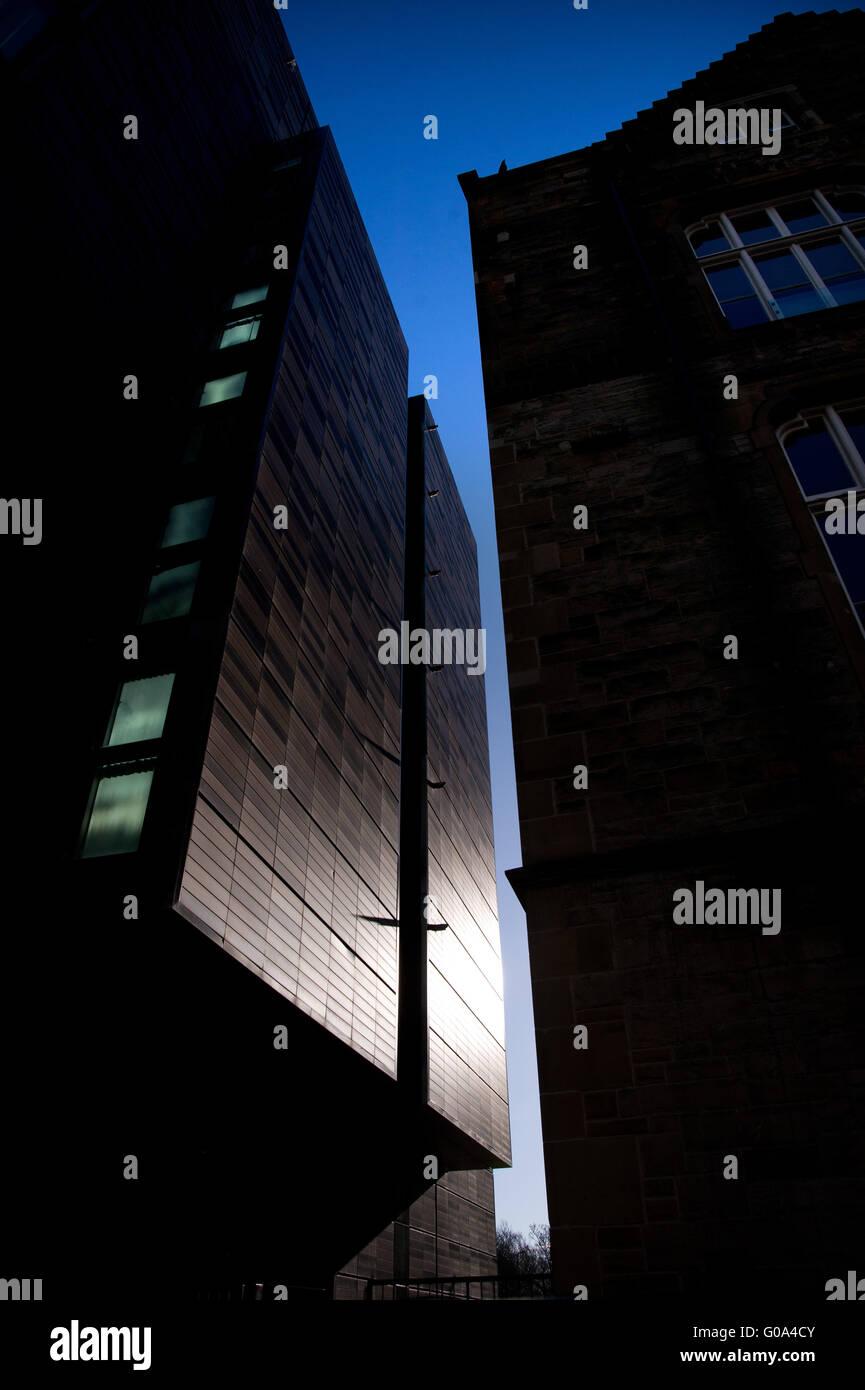 Modern building development, The Meadows, Edinburgh - Stock Image