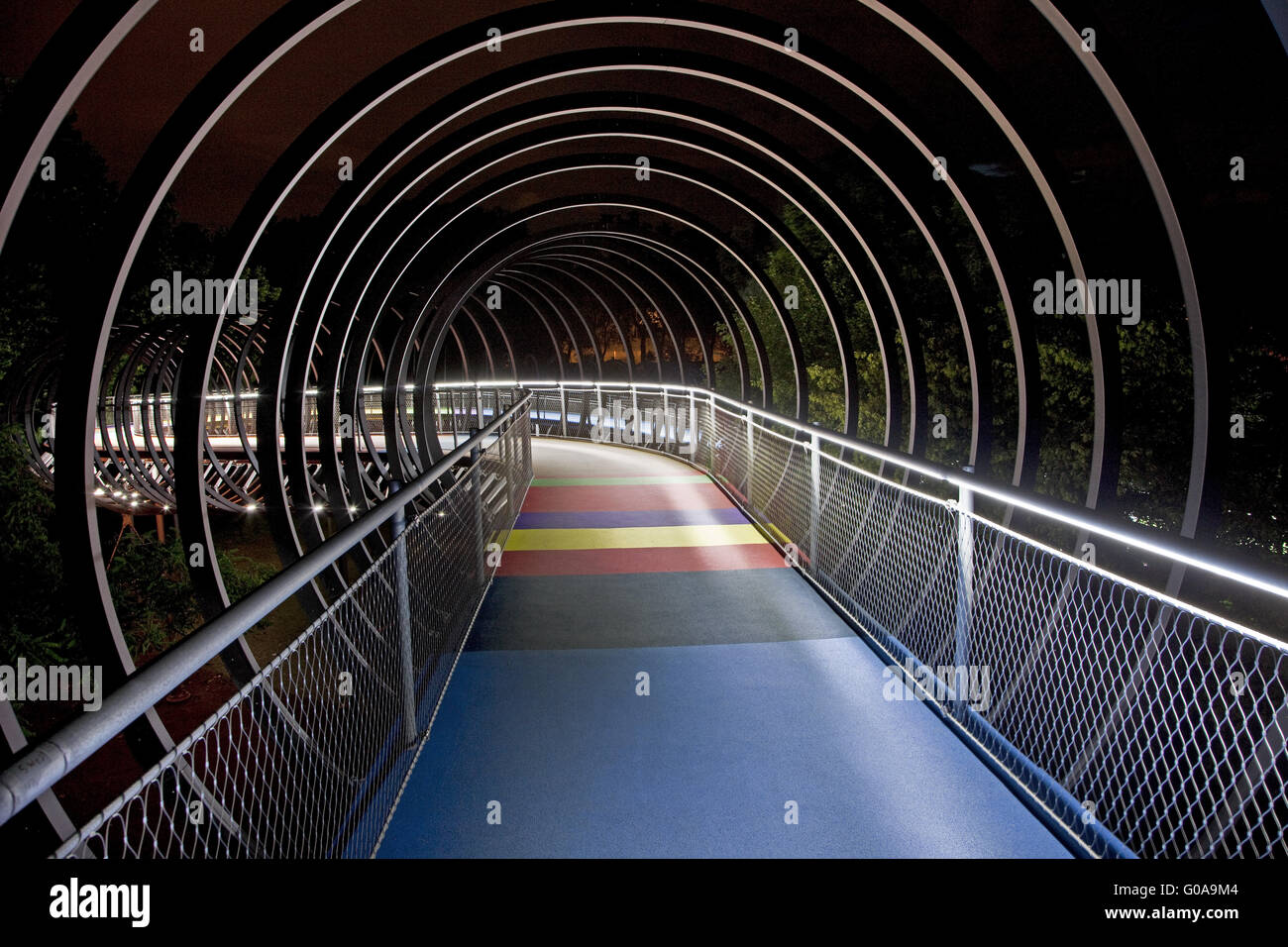 Bridge Slinky Springs to Fame, Oberhausen, Germany - Stock Image