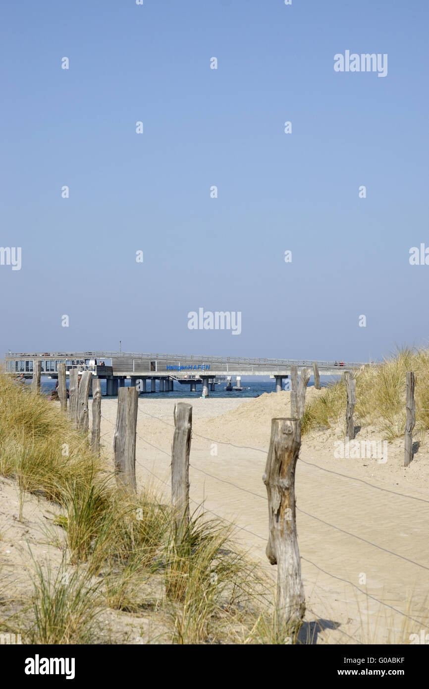 Way to the beach on the baltic sea in Heiligenhafe Stock Photo