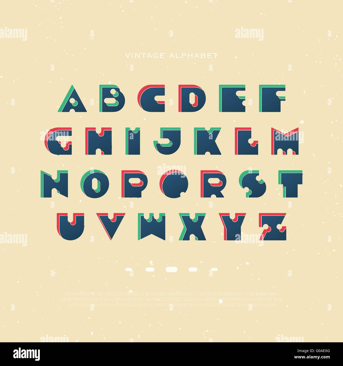 Set Of Bold Style Alphabet Letters Isolated On Paper Texture Vector Vintage Font Type Retro Character Design Distinct