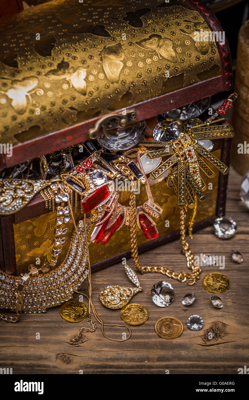 Box Treasure Chest Jewels Stock Photos & Box Treasure ...
