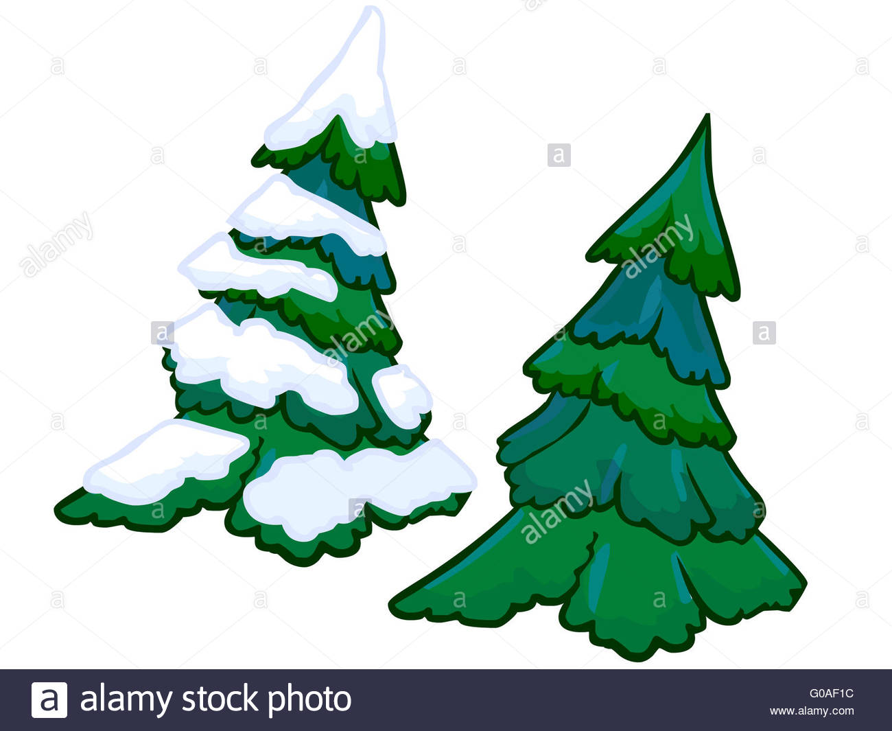 Cartoon Snowy Tree High Resolution Stock Photography And Images Alamy The tree that mickey and pluto chop down to bring home for christmas is the tree that chip 'n dale live in. https www alamy com stock photo the cartoon illustration of a spruce tree 103493528 html