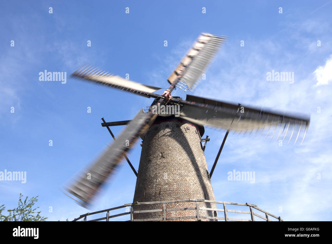Rotating Kriemhildsmill on the Town wall in Xanten - Stock Image