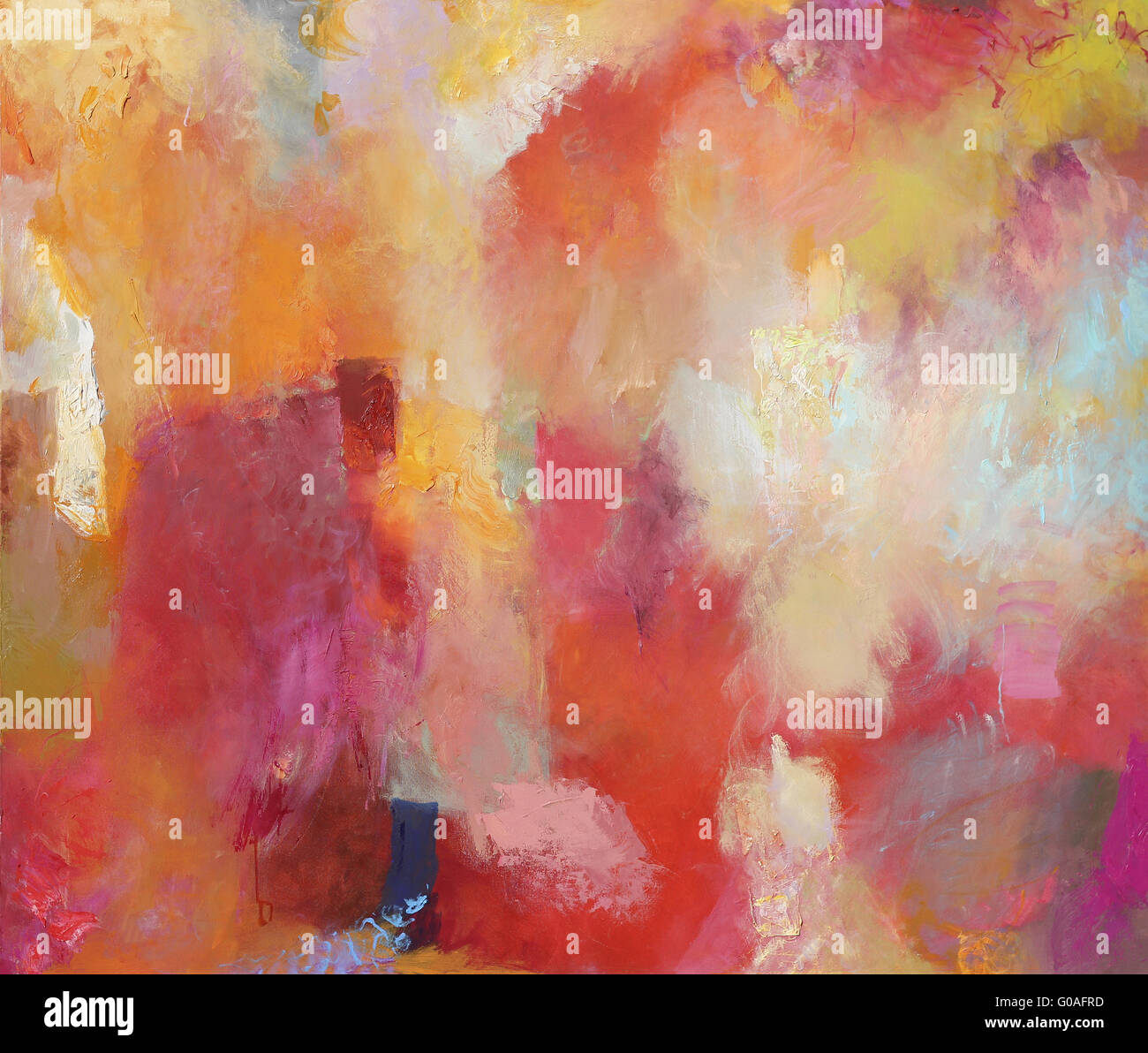 abstract painting on canvas - Stock Image
