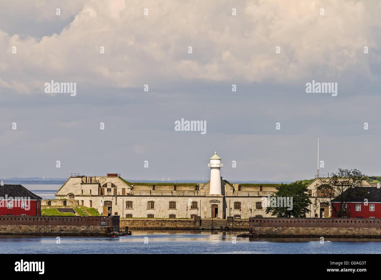 The Lighthouse In The Harbour At Copenhagen Denmar - Stock Image