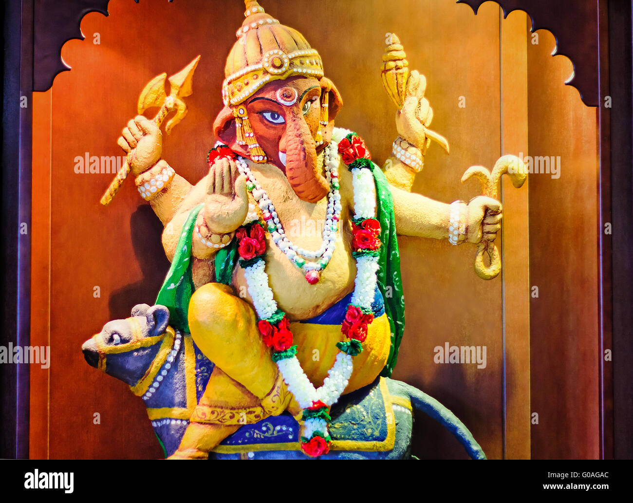 Statue of the Indian deity Ganesh. - Stock Image