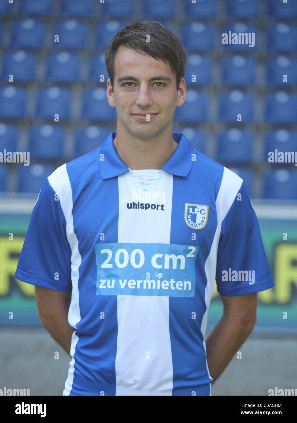 German footballer Christian Beck (1.FC Magdeburg) - Stock Image
