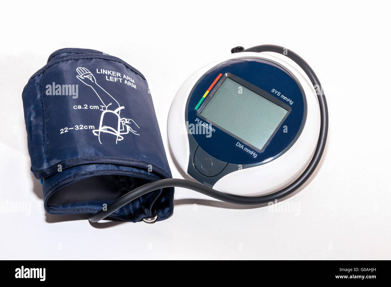 Household blood pressure monitor isolated against Stock Photo