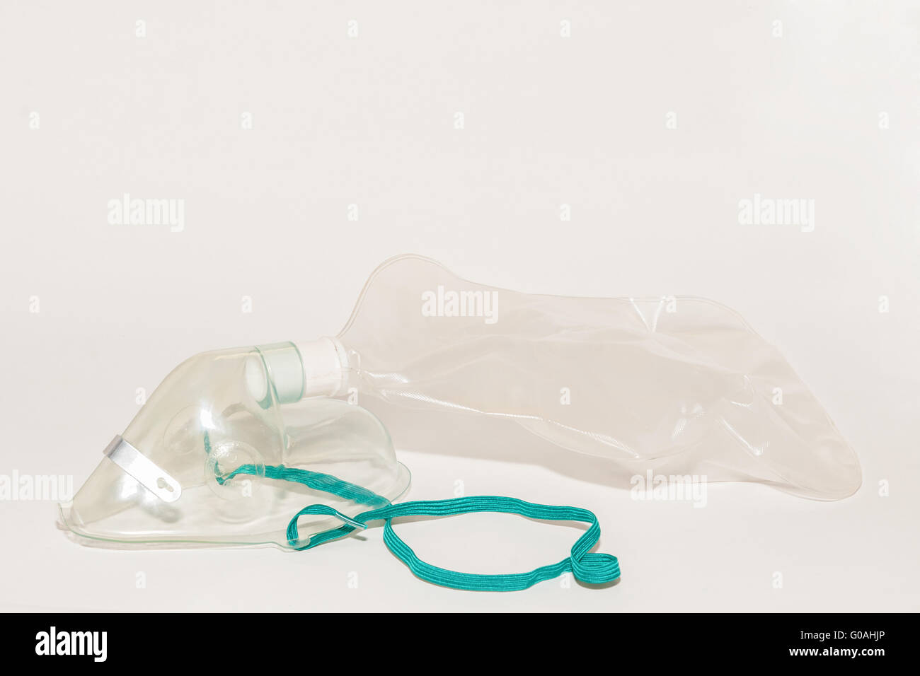 small breathing mask against hyperventilation isol Stock Photo