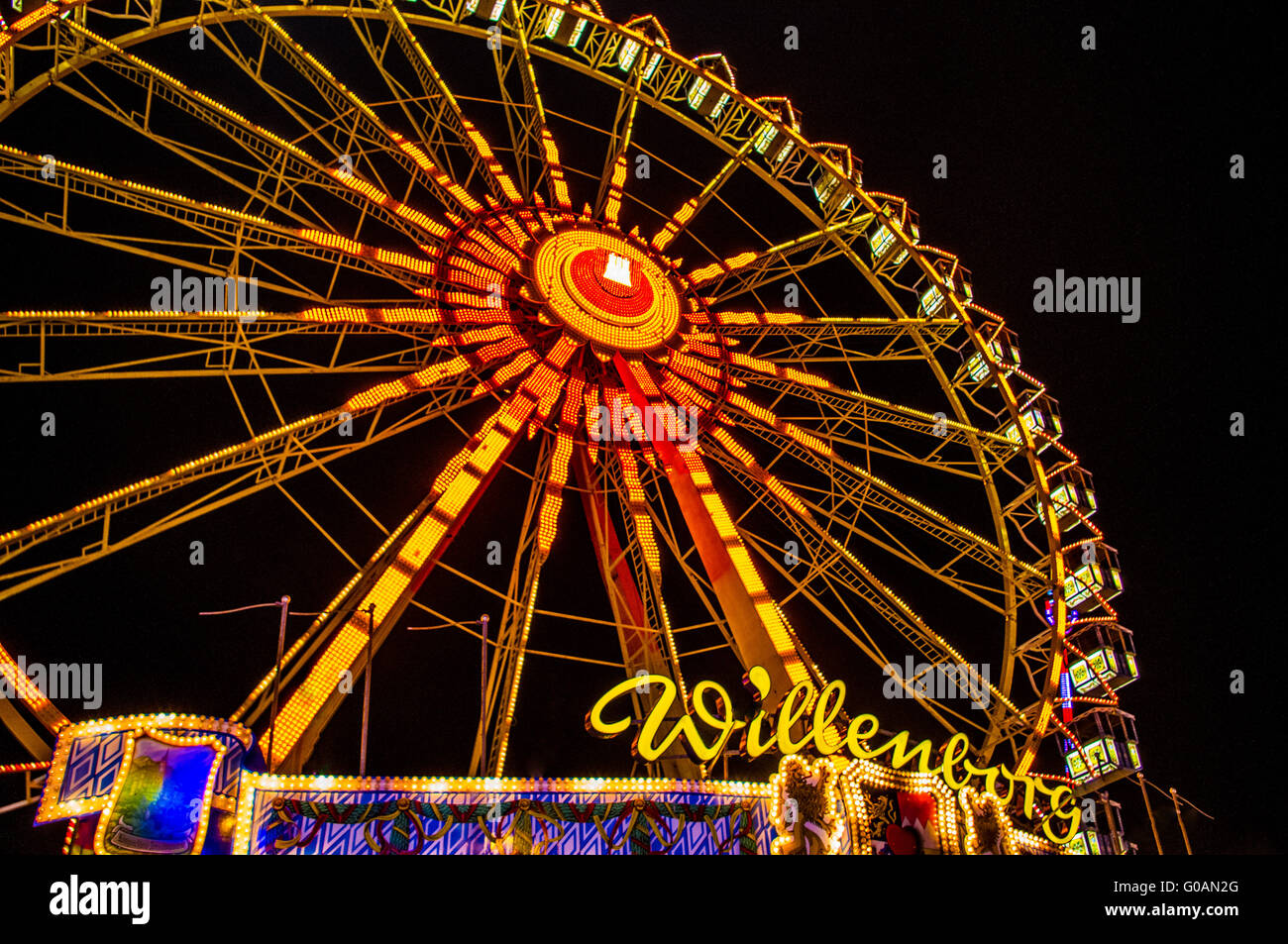Big Wheel on Annual Fair Hamburg Stock Photo