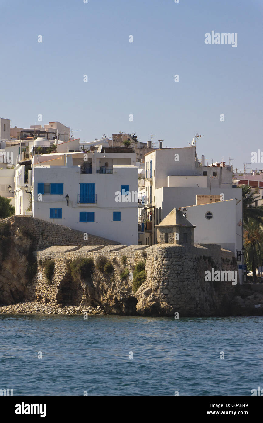 Cityscape Ibizza Old Town - Stock Image