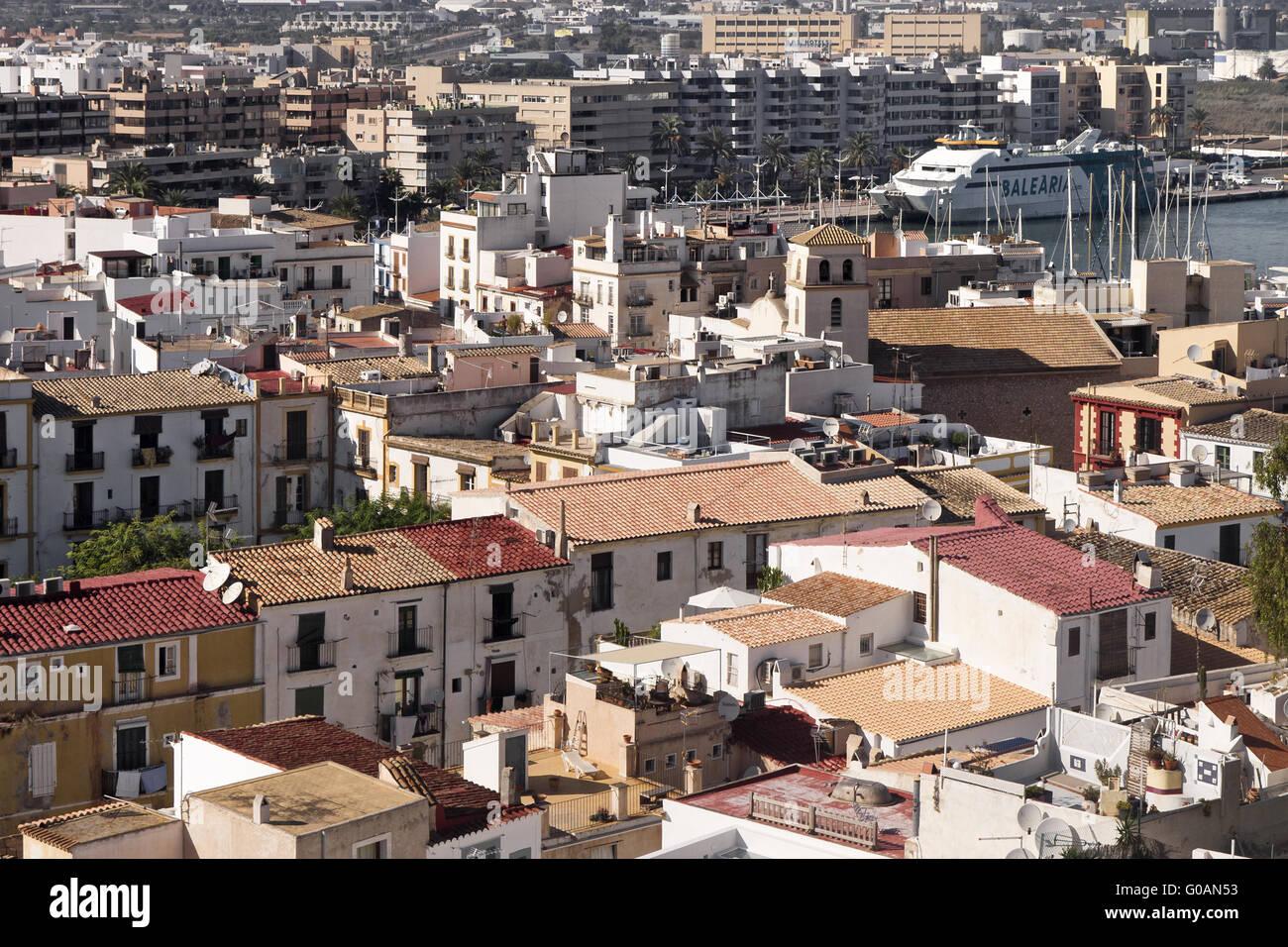 Cityscape Ibizza - Stock Image