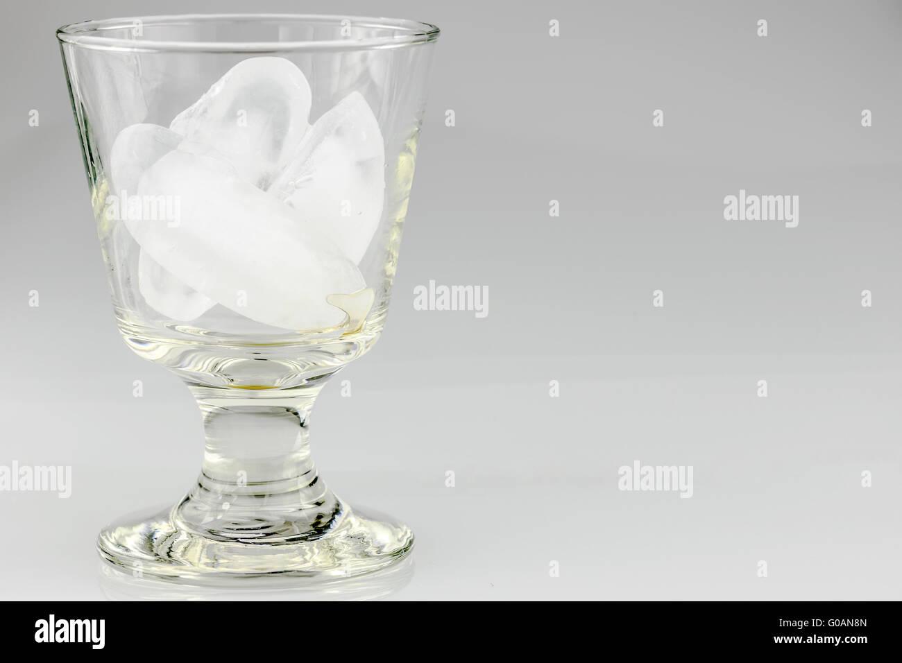 Glass of Icecubes Stock Photo