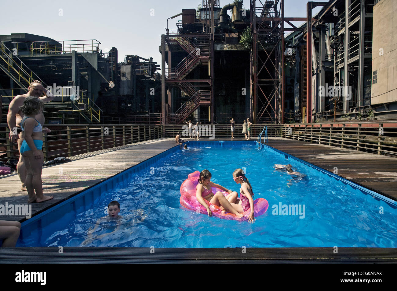 Factory swimming pool, Zollverein, Essen, Germany - Stock Image