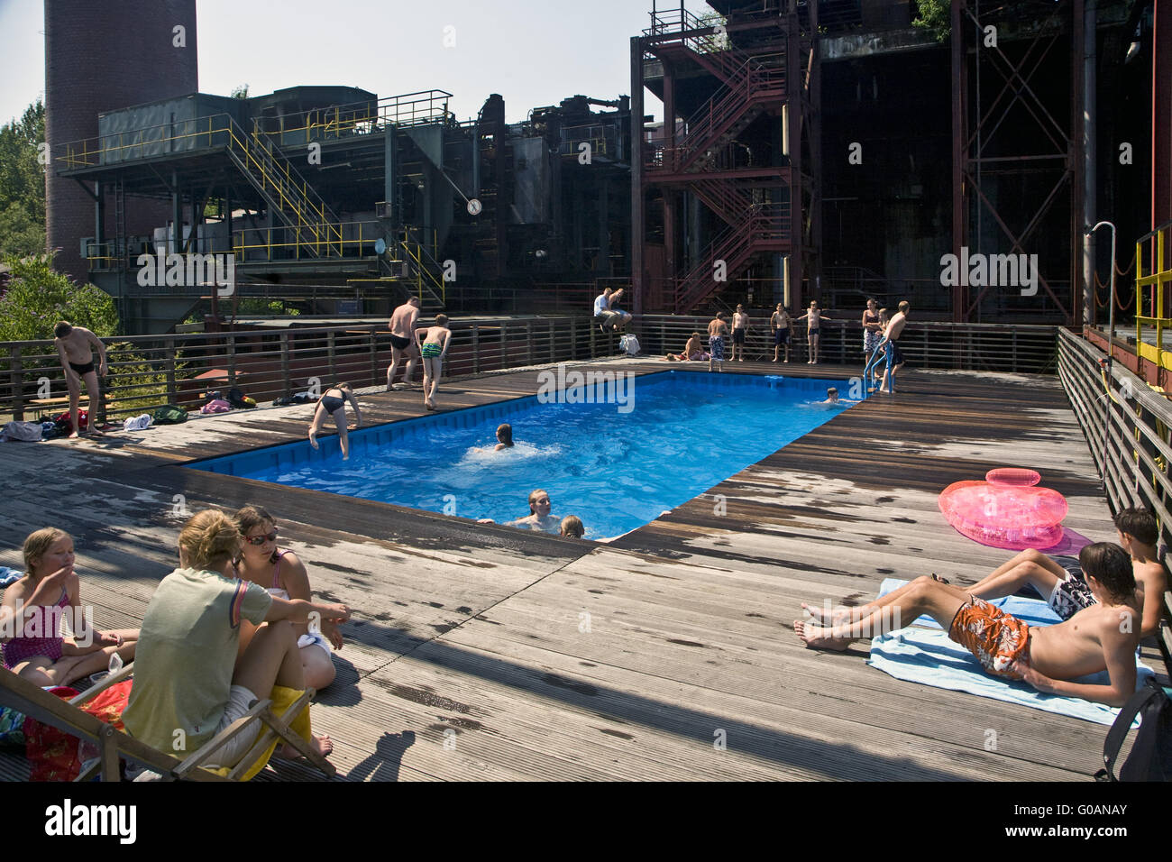 Factory swimming pool, Zollverein, Essen, Germany - Stock Image