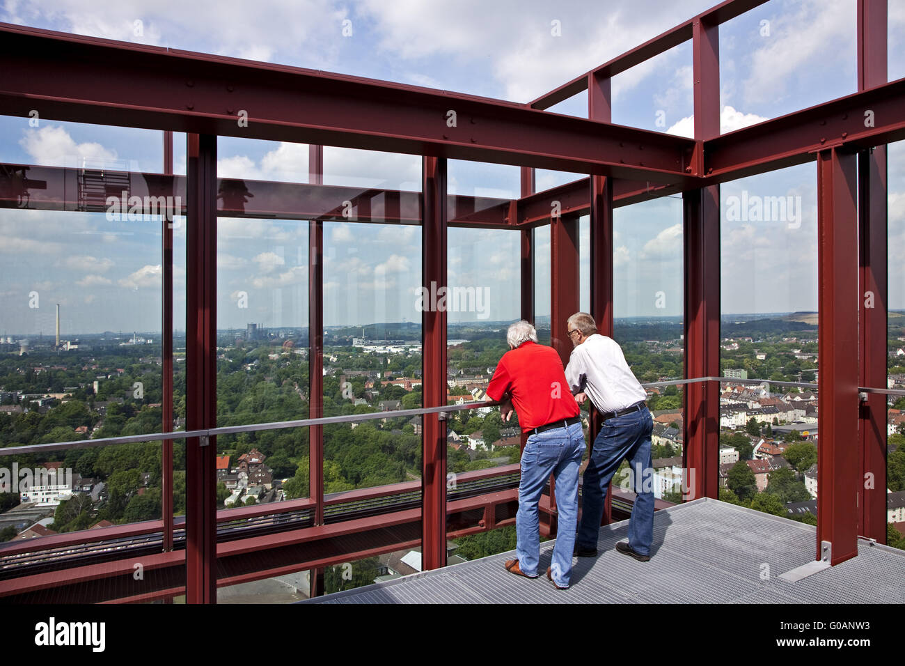 View from Nordstern tower, Gelsenkirchen, Germany - Stock Image