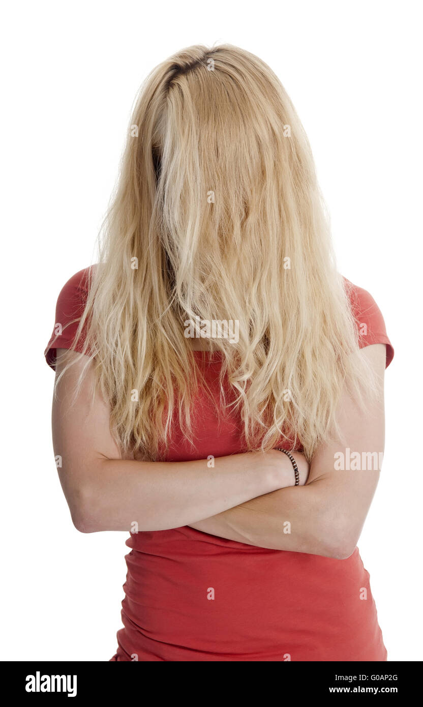 tousled hair - Stock Image