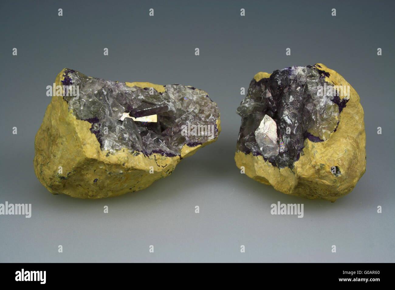 Celestine geode from Tunesia Stock Photo