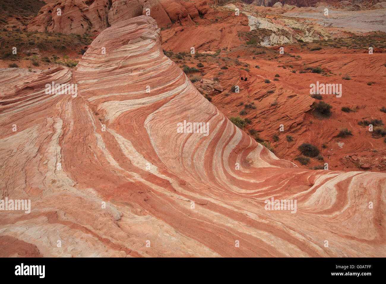 Valley of Fire Wave Stock Photo