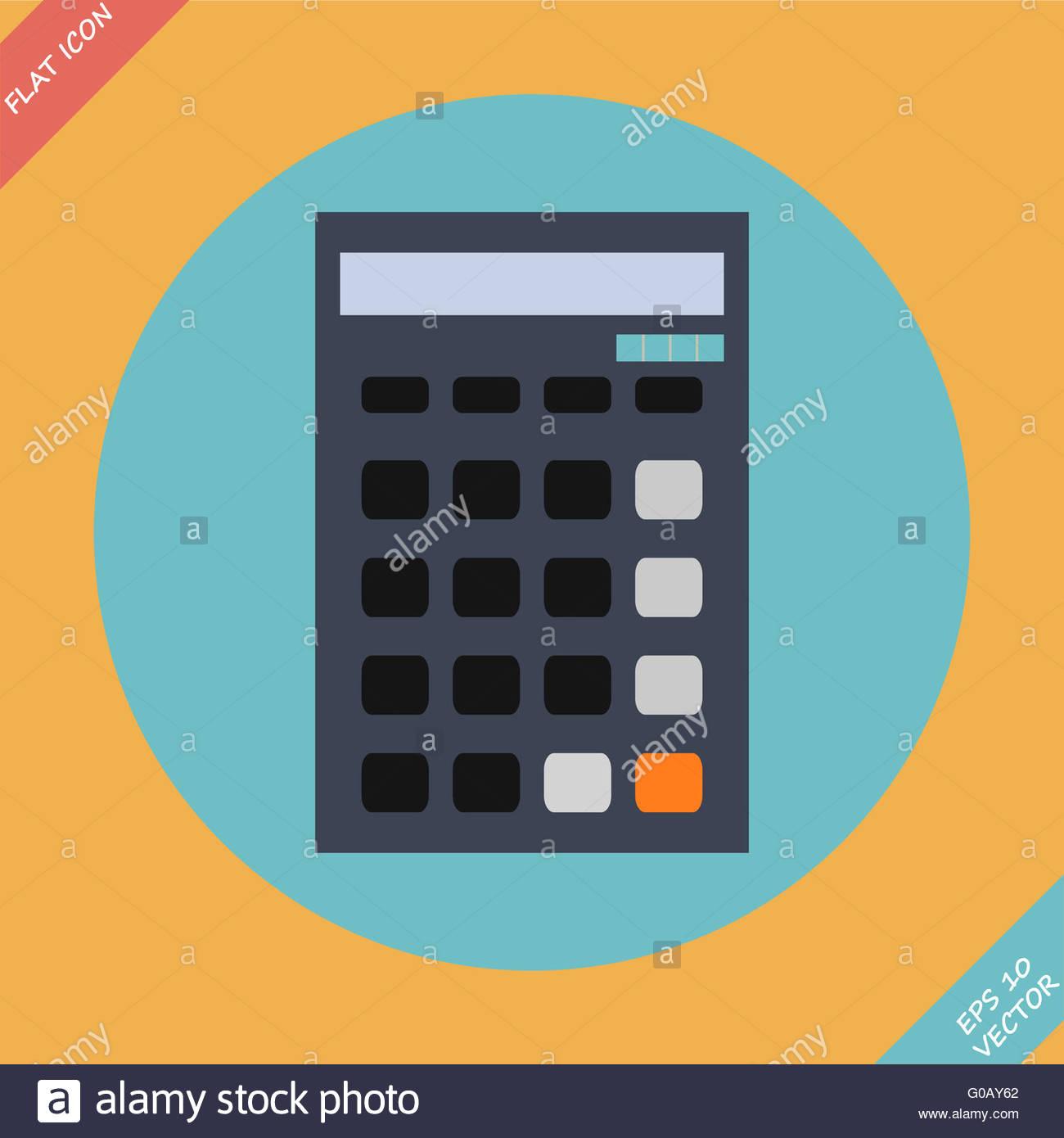 Enement Ring Calculator | Calculator Icon Vector Illustration Flat Design Element Stock