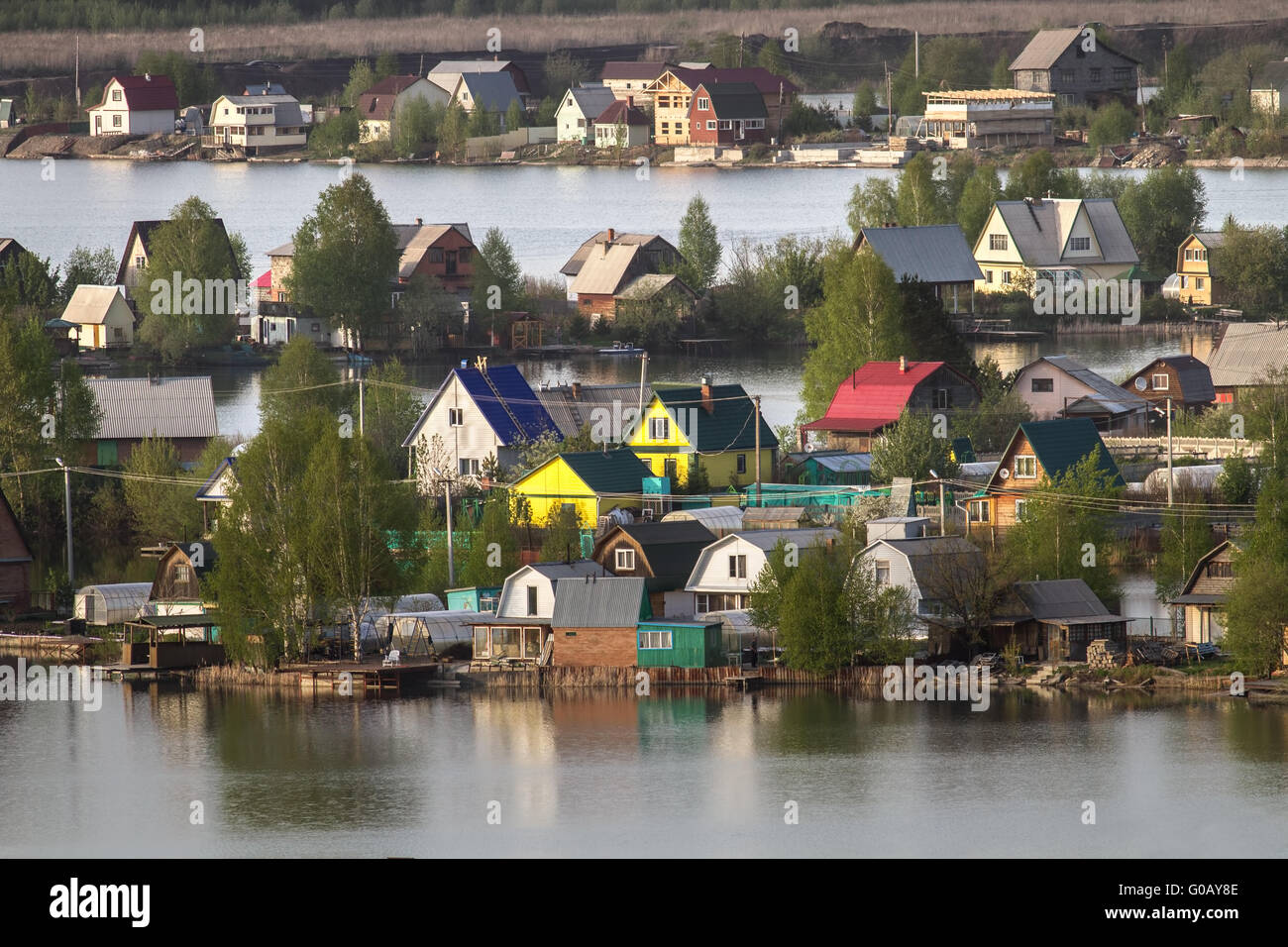 Cottage settlement - Stock Image