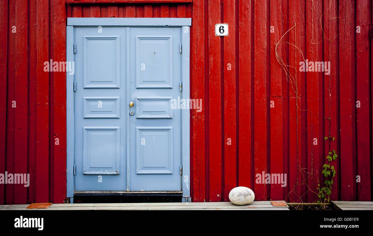 Blue Door - Stock Image