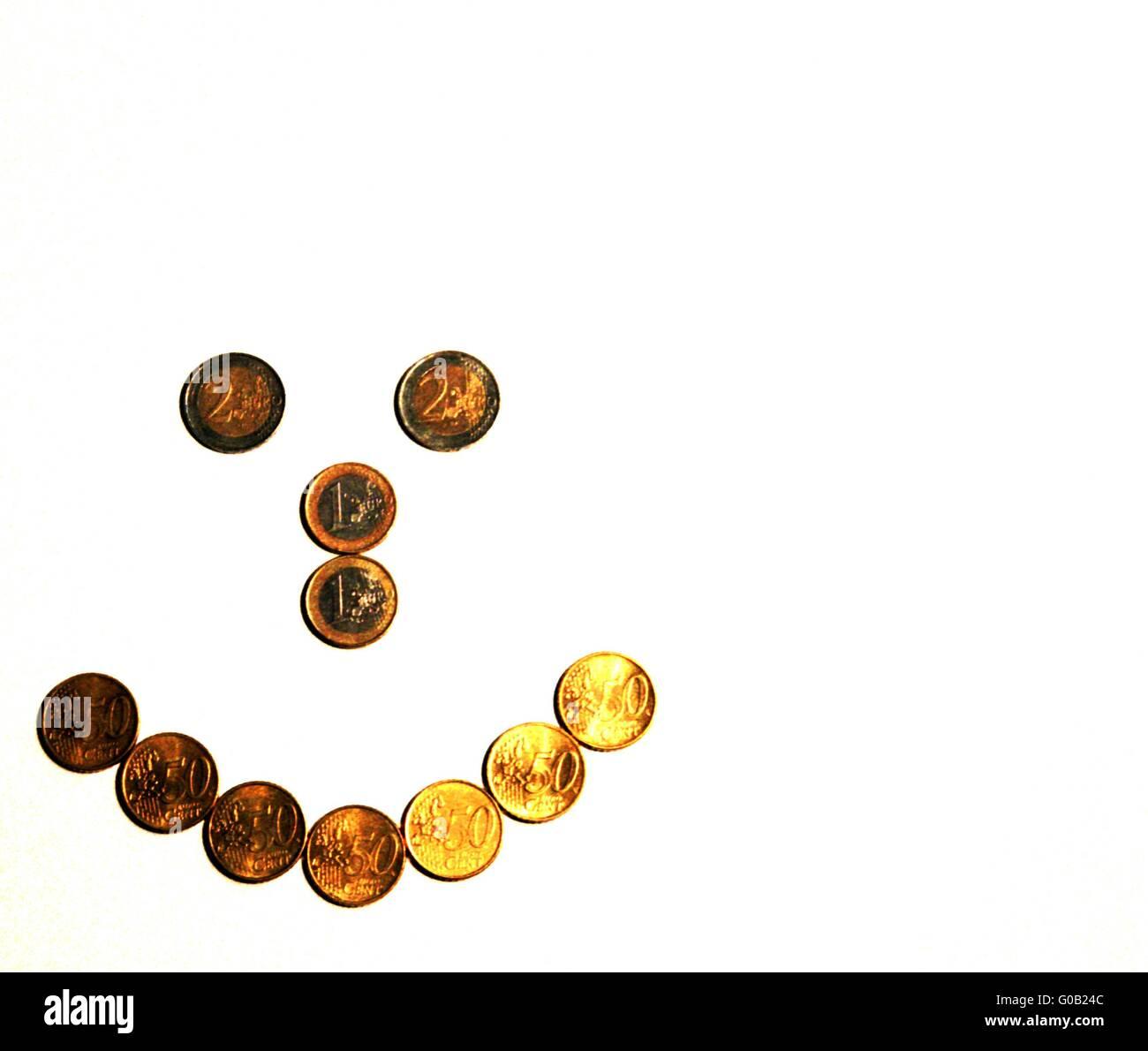 Money makes you happy Cut - Stock Image