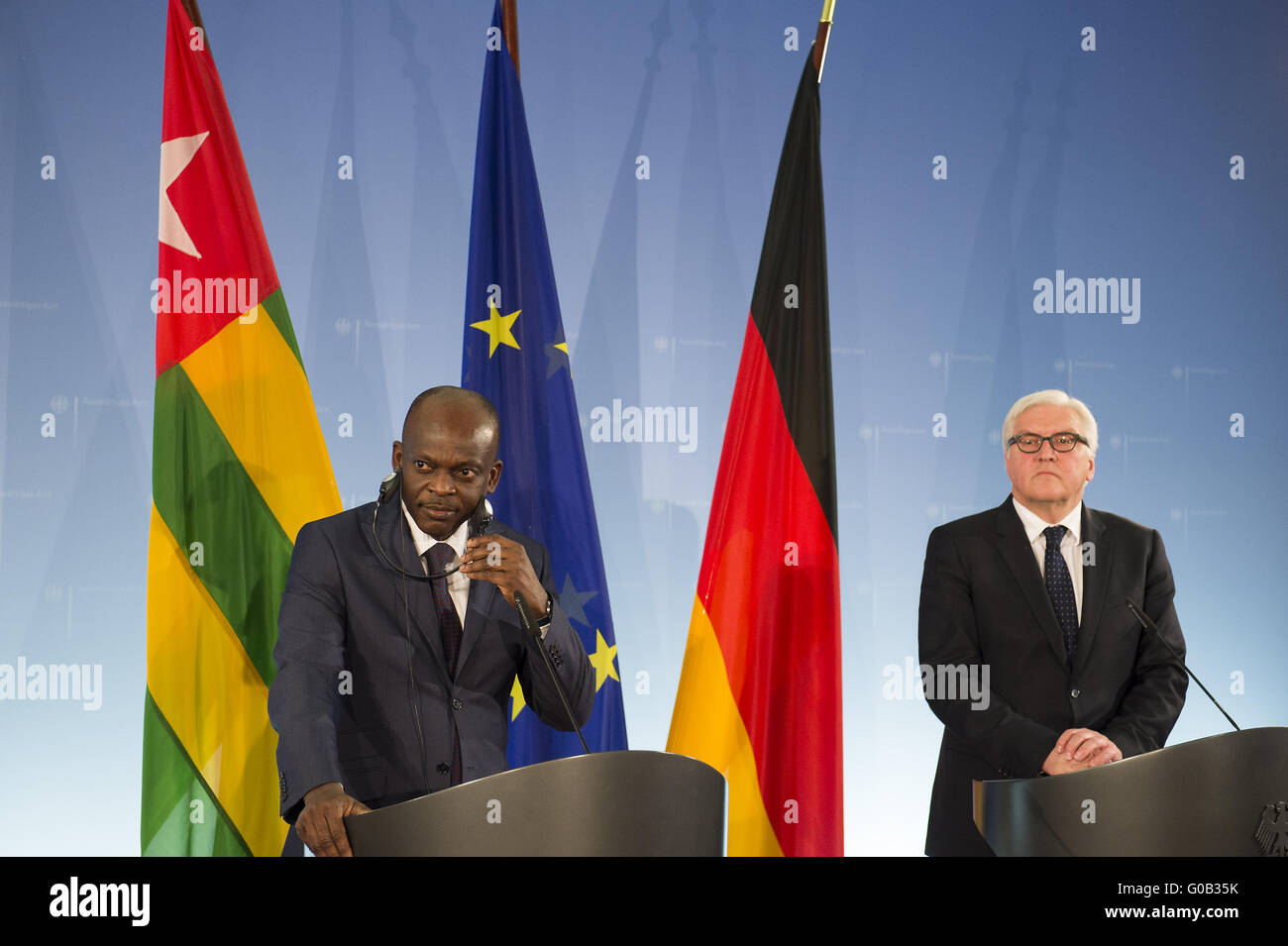 Press Conference between Steinmeier and his Togo counterpart . - Stock Image