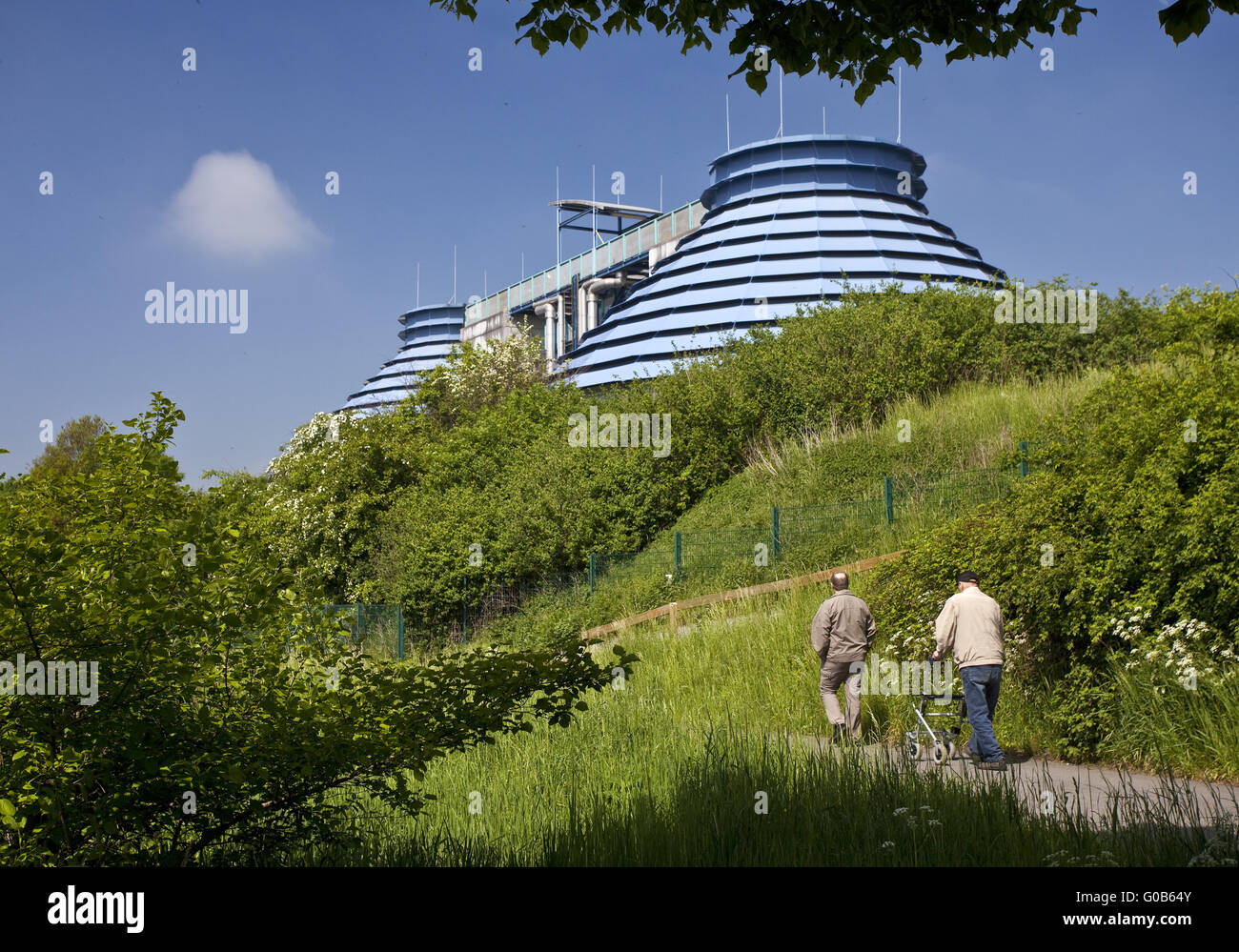 Two people at the treatment plant, Kamen, Germany - Stock Image