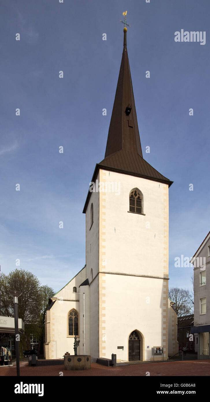 The Protestant church of St George, Lunen, Germany Stock Photo