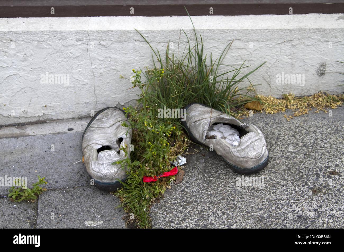 Old Shoe - Stock Image