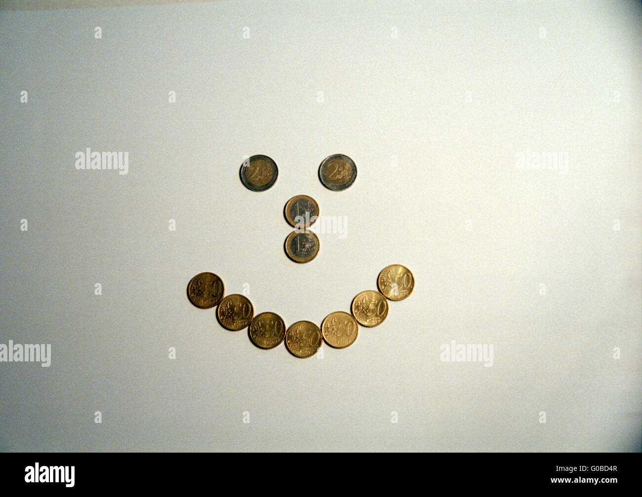 Money makes you happy - Stock Image