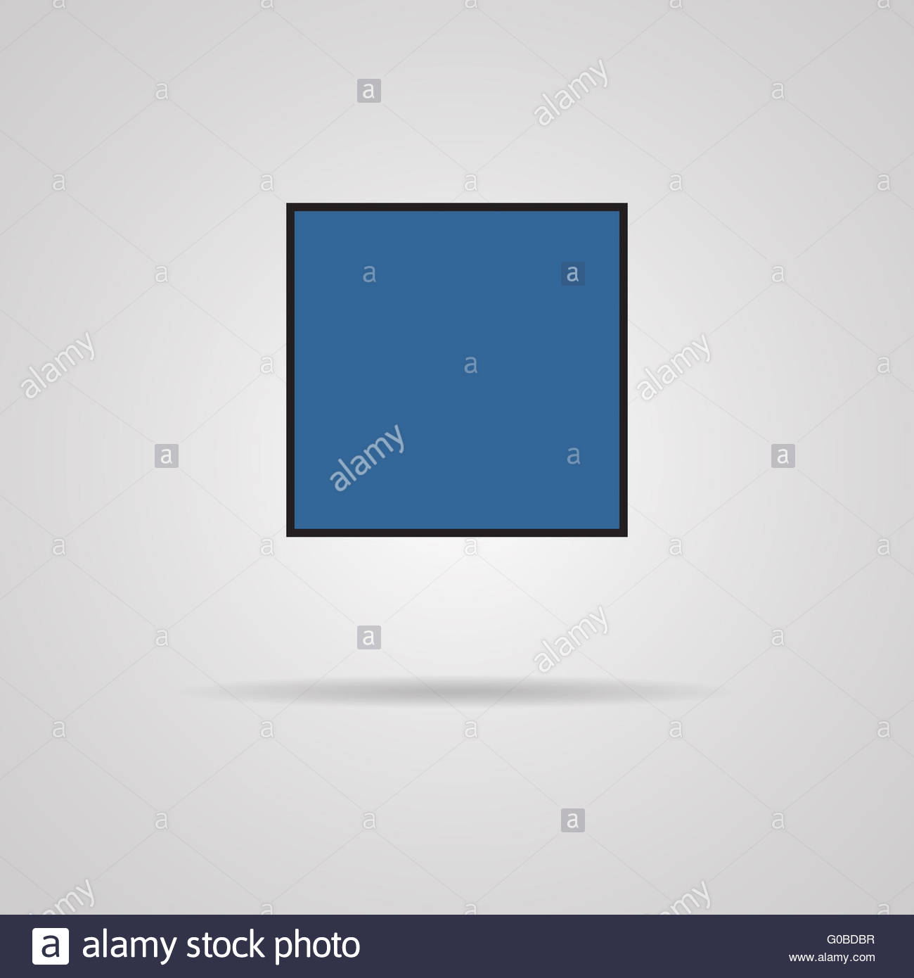 Stop track web icon with shadow. Media player - Stock Image