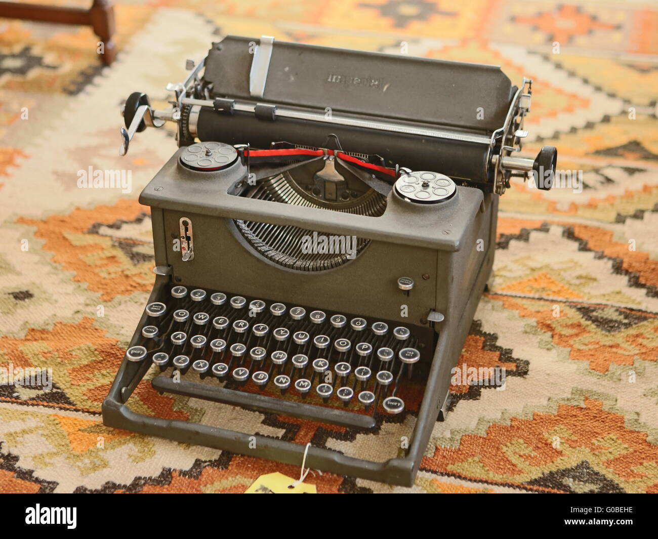 Imperial Model 50 Standard 1920'S Typewriter - Stock Image
