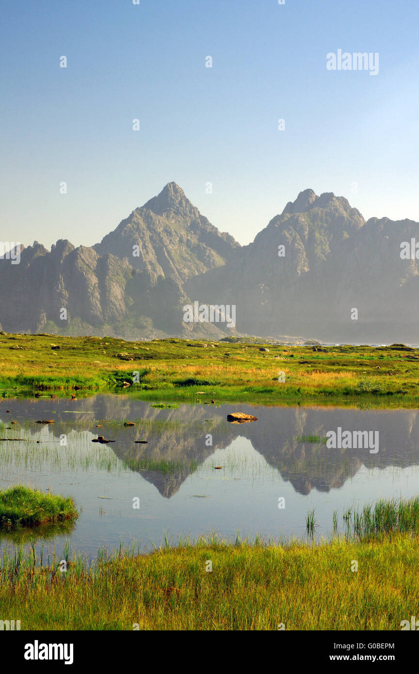 Fantastic mountain scenery on the eastern side of - Stock Image