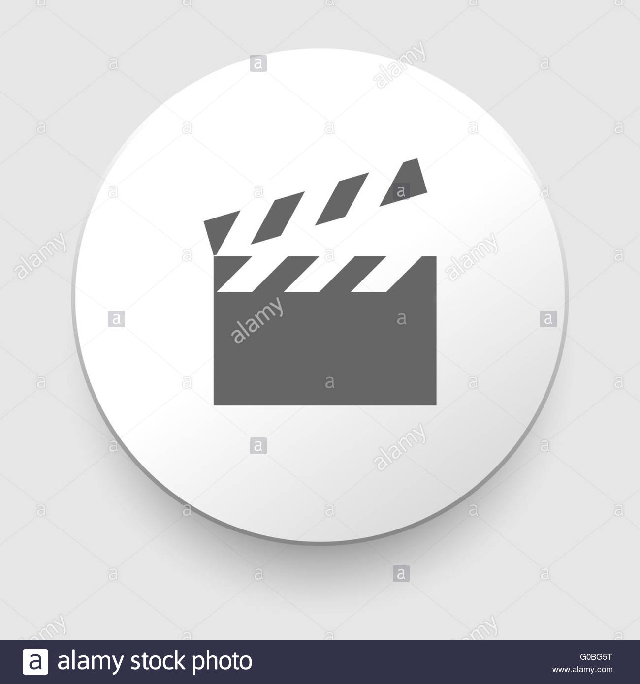 Clapper board isolated with clipping path included - Stock Image