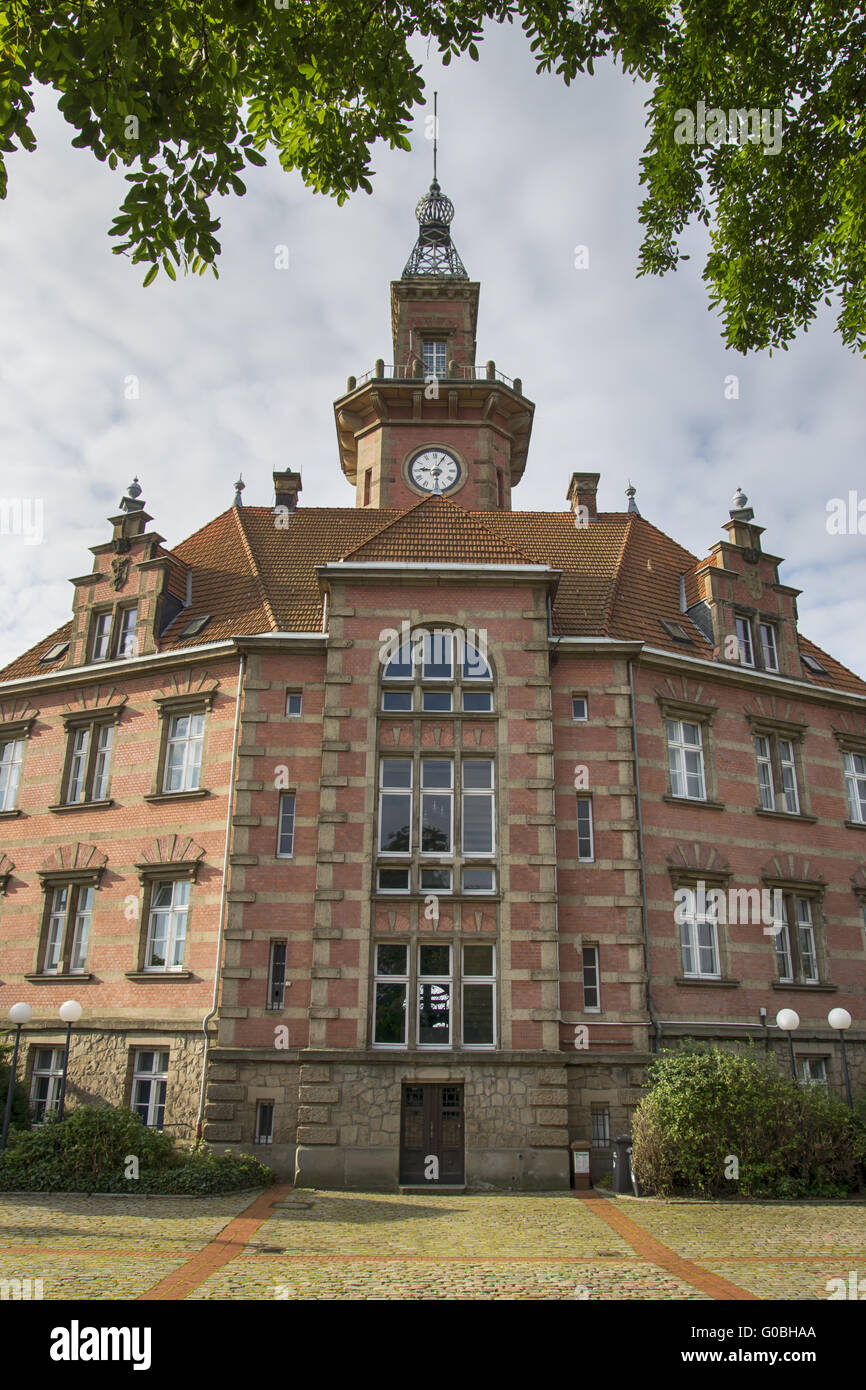 Old port authority in the canal port of Dortmund, - Stock Image
