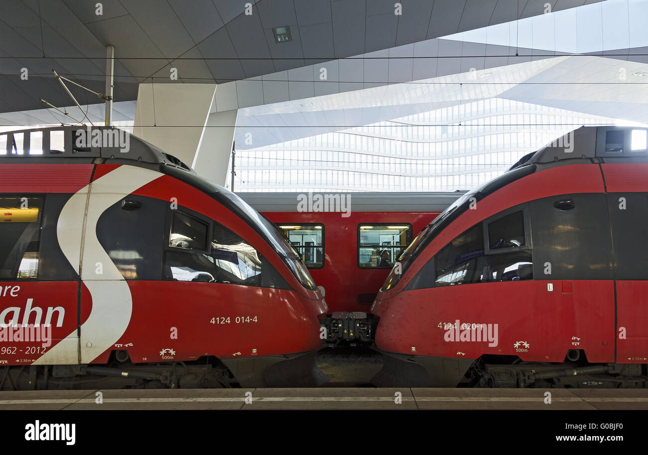 two connected  motor-coaches Bombardier Talent - Stock Image